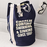 Personalised Sports Or Beach Duffle Bag - summer shop
