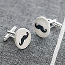 Glazed Earthenware Moustache Cufflinks