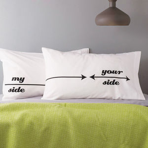 Pair Of 'My Side/Your Side' Pillowcases - view all gifts for him