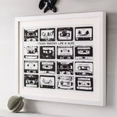 Personalised Playlist Cassette Print - corporate gifts