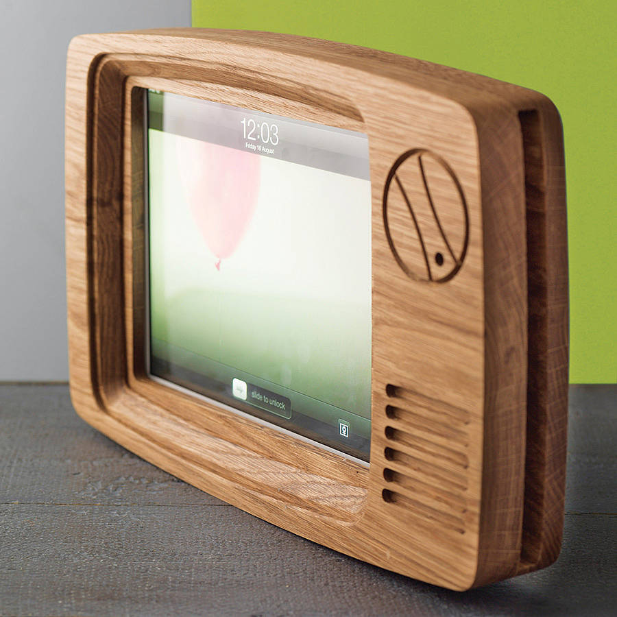 retro tv frame for ipad by wood paper scissors. Black Bedroom Furniture Sets. Home Design Ideas