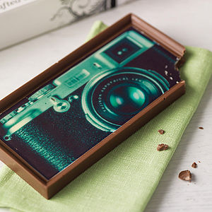 Retro Camera Milk Chocolate Bar - for young men
