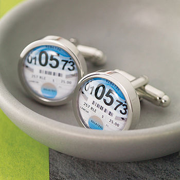 Personalised Tax Disc Cufflinks