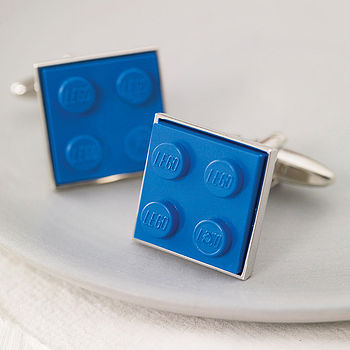 Building Brick Cufflinks Blue