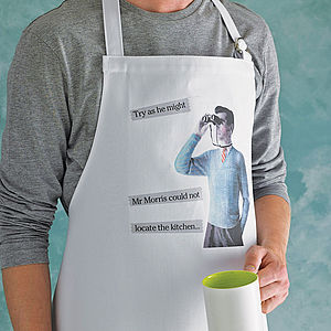 Personalised Men's Retro Apron - cooking & food preparation