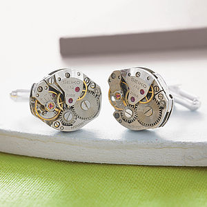 Vintage Watch Movement Cufflinks - gifts for him