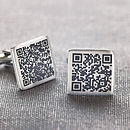 Personalised Secret Message Qr Code Cufflinks