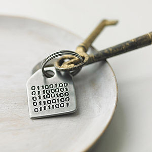 Binary Message Keyring - gifts under £15