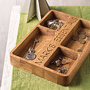 Personalised Oak Organiser Tray