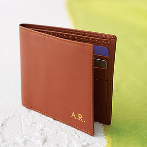 Personalised Leather Wallet - for him