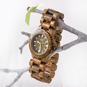 Men's Army Style Wooden Watch - watches