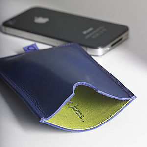 Personalised Leather Case For iPhone - technology accessories