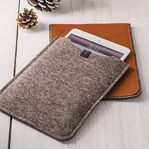 Personalised Leather And Felt Case For iPad Mini - for gadget-lovers