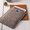 Leather And Felt Case For iPad Mini