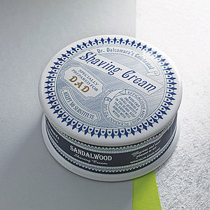 Sandalwood Shaving Cream Pot - gifts for fathers