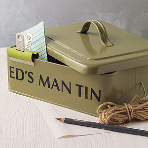 Personalised Man Tin - gifts under £50