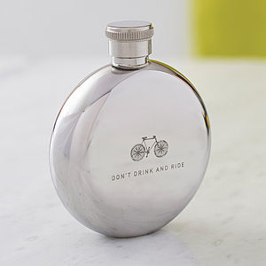 'Don't Drink And Ride' Bicycle Hip Flask - food & drink sale