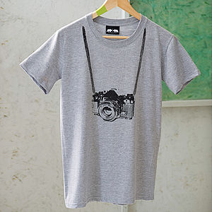 Tourist Camera T Shirt - for young men