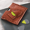 Tan Personalised Plectrum And Card Holder