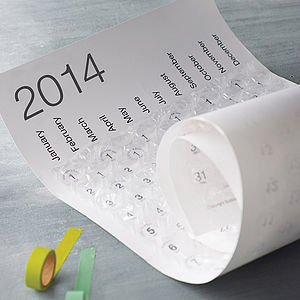 2014 Bubble Wrap Calendar - stationery