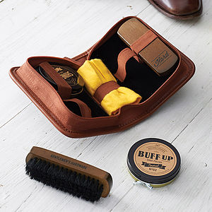Buff And Shine Shoe Polish Set And Case - gifts for him