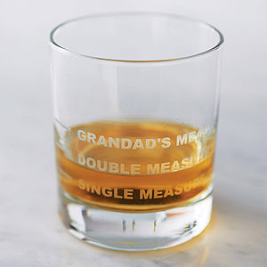 Personalised Drinks Measure Glass - gifts for grandparents
