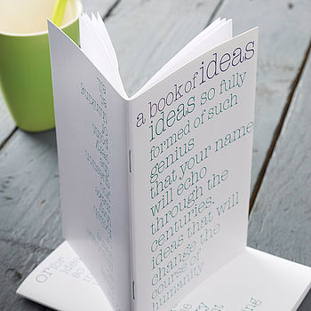 'Genius Or Mundane Ideas' Notebook