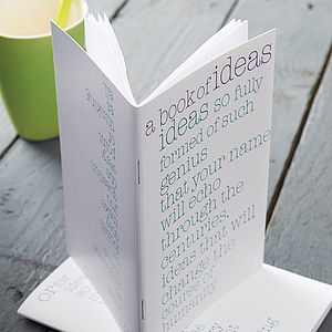 'Genius Or Mundane Ideas' Notebook - stocking fillers under £15