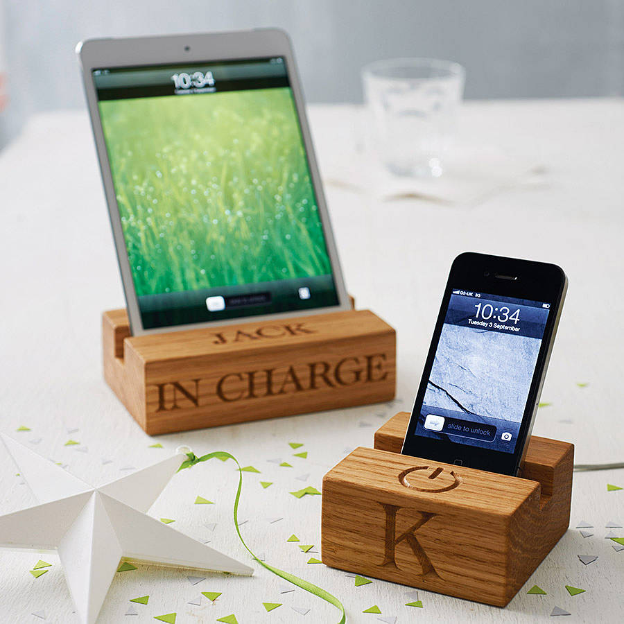 Wooden Stand For Iphone By The Oak Amp Rope Company