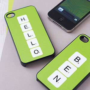 Personalised Scrabble Letter Case For iPhone - leisure