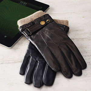 Men's Leather Touch Screen Gloves - gadget-lover