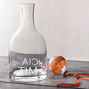 Personalised Carafe - wine connoisseur