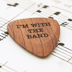 Personalised Wooden Plectrum - best gifts for him