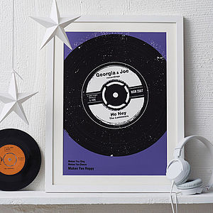 Personalised Number One Vinyl Print - for young men