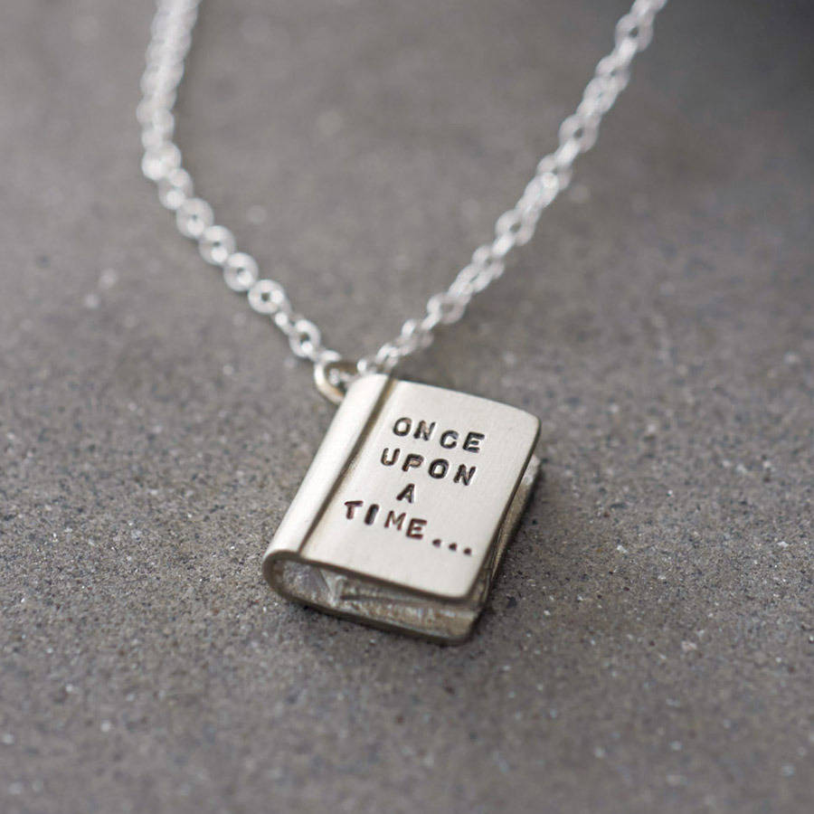 once upon a time 39 silver story book necklace by bug