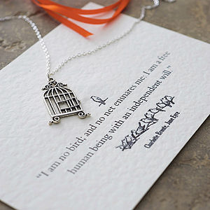 Jane Eyre Birdcage Necklace - gifts for her