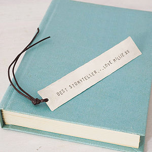 Personalised Silver Bookmark - book-lover