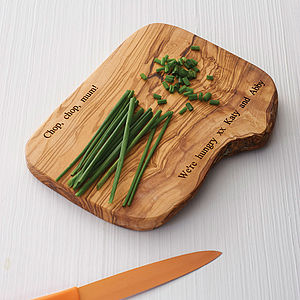 Personalised Wooden Chopping Board - gifts for him