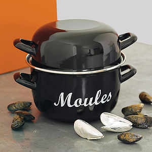 Enamel Mussels Pot - gifts for him