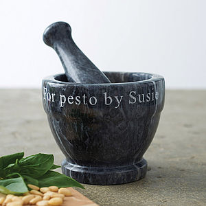 Personalised Marble Pestle And Mortar - marble inspired trend