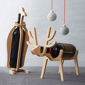 Penguin Or Reindeer Wine Rack - gifts for the home