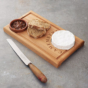 'Camembert' Cheese Board And Dish - tableware