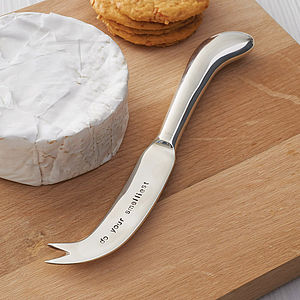 Personalised Silver Plated Cheese Knife - gifts for foodies