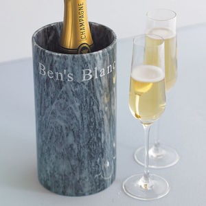 Personalised Marble Wine Cooler - christmas delivery gifts for him