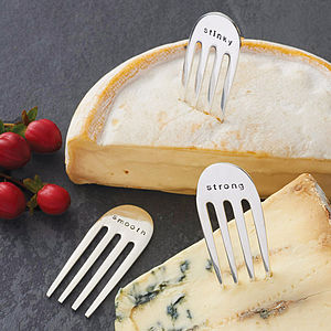'Stinky' 'Strong' 'Smooth' Cheese Markers - gifts for foodies