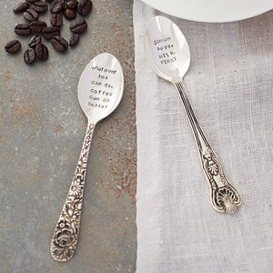 Personalised Silver Plated Teaspoon - gifts for foodies