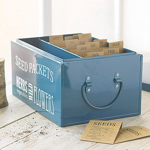 Seed Organiser Tin - view all gifts for her