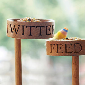 Solid Oak Bird Feeder - 50th birthday gifts