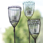 Set Of Two Garden Lantern Stakes - garden