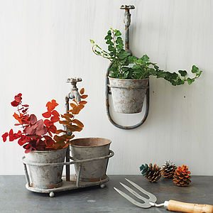 Iron Spout Garden Hanging Pot - garden accessories